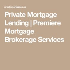 PrestoMortgages is the leading Mortgage Brokerage in Ontario. Our team specializes in Private Mortgage Lending and Situation Mortgage Lending. Financial Website, Marketing