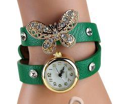 09cbfcf2c393b Bracelet watch green butterfly - Montre bracelet verte papillon #montre  #watch #mode #fashion