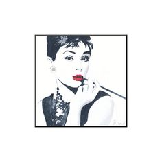 Wildon Home ® 'Audrey Hepburn' by Bob Celic Painting Print You'll Love   Wayfair