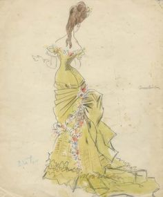 Cecil Beaton costume design sketch for Vivien Leigh in Anna Karenina. Theatre Costumes, Movie Costumes, Fashion History, Fashion Art, Classic Fashion, Fashion Trends, Ana Karenina, Costume Design Sketch, Hollywood Costume