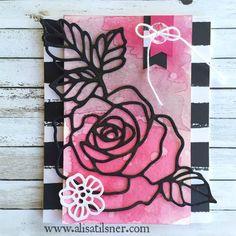 The Artful Stampers Blog Hop - Stampin Up Rose Garden Thinlits - Sketch Challenge - www.alisatilsner.com