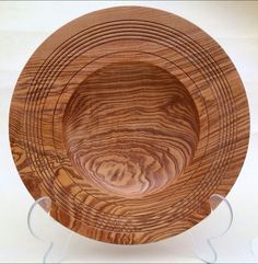 Rippled Olive Ash Bowl