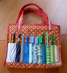 Tutorial: Kid's Draughtsman's Pouch art tote · Sewing | CraftGossip.com