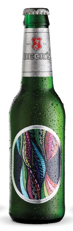 Becks Beer winning label design by Sarah Findlay, Media Design School 2012 @Bevvvvverly Dietrich Design School PD