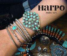 Harpo Bijoux © #braceletsturquoise #bijouxturquoise #bijouxamérindiens