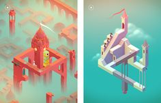 Monument Valley Game, Game Google, Love Design, Flat Design, Game Guide, Game App, Creepy, Adventure, Christmas Ornaments