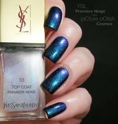 ysl premiere neige swatch picture polish cosmos yves saint laurent 33 top coat