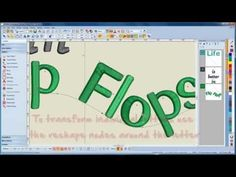 BERNINA Embroidery Software 7: how to digitize letters - YouTube
