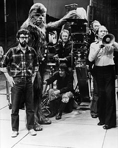 George and Chewbacca behind the camera
