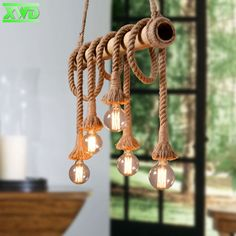 123.20$  Watch here - R Hemp Rope Bamboo Tube Pendant Lamp Parlor/Coffee House/Dining Room/Bar/Shop Indoor Lighting E27 Lamp Holder 110-240V  #buyininternet