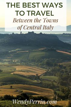 For some day trips from Florence - say, to Lucca and Pisa -you can take the train. For others - say, the hill towns of Chianti - you may want a private driver.