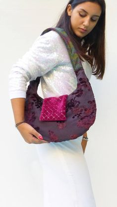 Floral design handbags, medium sized fabric purse #floral #handbags, one of a kind