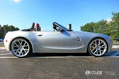 BMW with Vossen Wheels exclusively from Butler Tires and Wheels in Atlanta, GA - Image Number 9788 Rolls Royce Motor Cars, Bmw Z4 Roadster, Tyre Brands, Custom Cafe Racer, Custom Cars, Custom Bmw, Custom Wheels, Bmw Models, Hot Rides