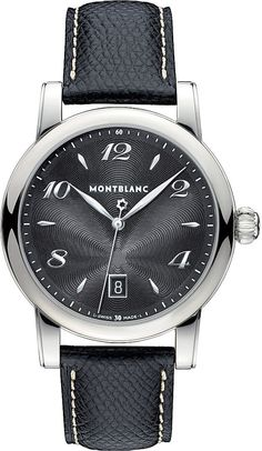 Montblanc 108763 Star Stainless Steel and Leather Watch - for Men
