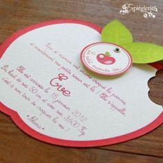 Faire-part Pomme Rouge Naissance 01