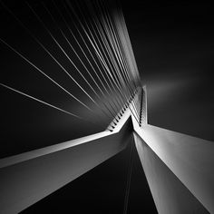 Photography by Joel Tjintjelaar - this is a detail of the Dutch bridge in Rotterdam, called The Swan