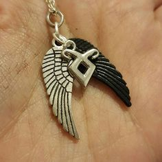 Inspired by Jace and Sebastian from Shadowhunters Clary Y Jace, Jace Lightwood, Fandom Jewelry, Jewelry Accessories, Women Jewelry, Shadowhunters The Mortal Instruments, Cassandra Clare, Couple Jewelry, Wing Necklace