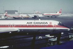 Air Canada' s First Canada is a North American region extending from america located in the south to the… Canadian Airlines, Passenger Aircraft, Air Festival, Canadian History, Vintage Airplanes, Air Travel, Air Show, Aviation, Images