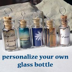 Just think of all the kudos you will get for coming up with this Unique glass bottle gift that you can personalize for your loved one. This tiny message in a bottle is  the perfect size to wear around your neck, or add to a tree for decoration. made by beadingmom