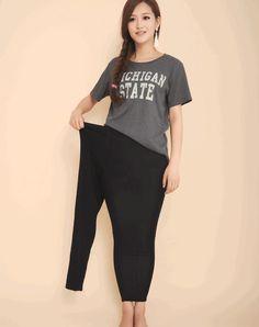 XXL XXXL plus size pants women sexy slim large size pants heavy lady skinny summer thin modal leggings cool pencil capris