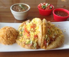 Taco Taco Café, 145 E. Hildebrand San Antonio, Texas - featured on the Food Network's Diners, Drive-Ins, & Dives Cheap Healthy Snacks, Healthy Eating, San Antonio Food, Puffy Tacos, Cowboy Food, Food Network Recipes, Cooking Recipes, Taco Taco, Different Recipes