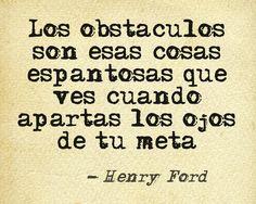 Fijar objetivo, organización y trabajo. No pensar en los obstáculos. #esfuerzo #constancia