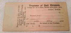 1916 - 1919 Ireland bond receipt (IRA Irish Volunteers Sinn Fein Easter Rising) in Collectibles, Militaria, Other Militaria   eBay