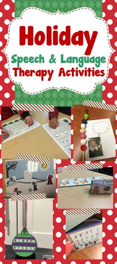 holiday speech therapy activities!  Free and paid printables!! www.thedabblingspeechie.com