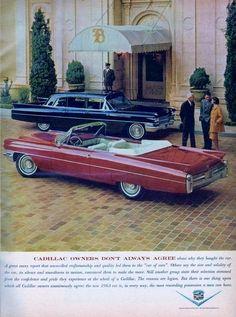 1963 Cadillac Series 75 Fleetwood Limousine (background) and Eldorado Biarritz Convertible