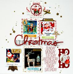 #Papercraft #Scrapbook #Layout.  creating {non}sense: Merry Christmas to You!! and 2 more Pretty Little Studio Christmas pages