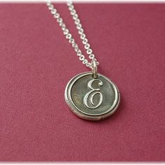{ Wax Seal Initial Necklace }