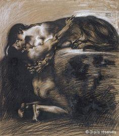 Franz von Stuck, The Kiss of the Sphinx (Der Kuss der Sphinx), 1895