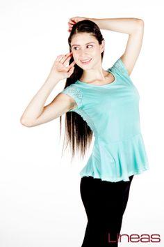 Playera. Modelo 18283. Precio $80 MXN #Lineas #outfit #moda #tendencia #2014 #ropa #prendas #estilo #outfit #primavera #playera