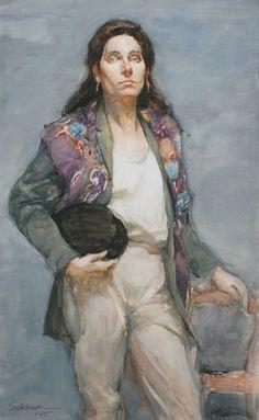 Burton P. Silverman, Riding Habit, 1986 Watercolor, 19 x 12 inches