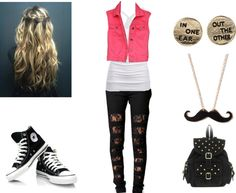 """""""Shopping with friends!"""" by kaylee-kimberlin on Polyvore -I repinned this 'cos i adore the earrings... :3"""