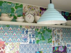Vintage Wallpaper collage wall