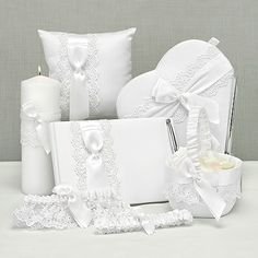 Lace Allure Collection with Heart Guest Book