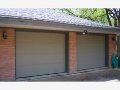 Contemporary Flush Steel Garage Doors-Home and Garden Design Ideas