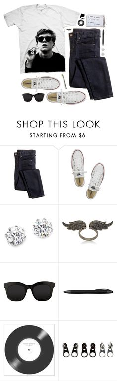 """""""""""You see us as you want to see us - in the simplest terms, in the most convenient definitions."""" - The Breakfast Club"""" by skydancer18 ❤ liked on Polyvore featuring J.Crew, Converse, Kenneth Jay Lane, Anita Ko, STELLA McCARTNEY, Porsche Design and Full Tilt"""