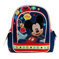Mickey Mouse Backpacks #mickey_mouse_toddler_backpack #disney_toddler_backpack #mickey_mouse_childs_backpack