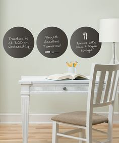 Charcoal dry-erase decals. Great idea for dorms.