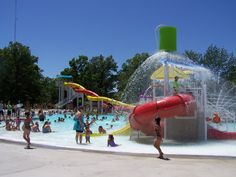 Marion Lincoln Park Family Aquatic Center: dual slides, zero-entry, family slide, lazy river, splash zone, lilly pads and more. 879 N. Prospect Street, Marion, Ohio. Opens Memorial Day Weekend!!!!! Are you up to the dual slide challenge!!!  www.VisitMarionOhio.com
