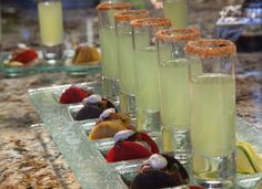 Mini beverages with your hors d oeuvres