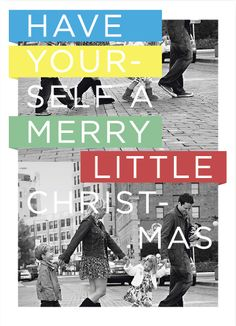 holiday photo cards - Multicolor Christmas by HUNT GATHER