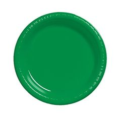7 inch Plastic Lunch Plate Emerald Green/Case of 240