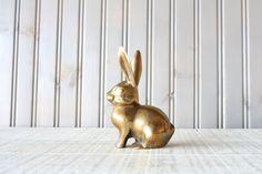 Brass Bunny Rabbit // Solid Brass.