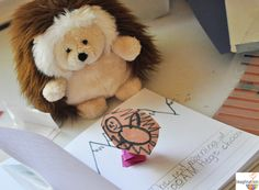 Grab a stuffed animal, tell a story, pretend play the story, then write it down! It's the best way to get young writers writing fluently because once they've said and played the story, they're primed to write it . . . already knowing what they want to say.