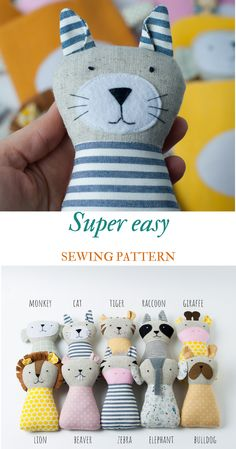 Outstanding 50 sewing projects tips are offered on our site. Have a look and you wont be sorry you did. Sewing Toys, Free Sewing, Sewing Crafts, Hand Sewing, Animal Sewing Patterns, Easy Sewing Patterns, Sewing Tutorials, Bear Patterns, Sewing Stuffed Animals