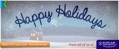 Happy Holidays from all of us at Kaplan University