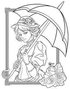 DeviantArt: More Like The twins - 2015 Halloween coloring contest by JadeDragonne Cute Coloring Pages, Adult Coloring Pages, Coloring Sheets, Coloring Books, Famous Fairies, Colorful Pictures, Art Drawings, Sketches, Victorian